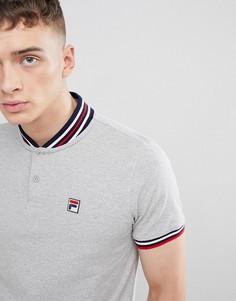 Серая бейсбольная футболка-поло Fila Vintage - Серый