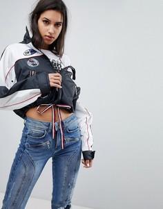 Ветровка с нашивкой логотипа Gigi Hadid - Черный Tommy Hilfiger