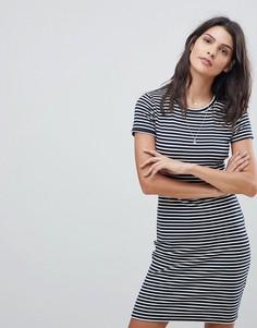 Платье-футболка в полоску Abercrombie & Fitch - Темно-синий