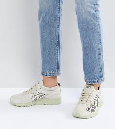 Кроссовки с вышивкой и цветной подошвой Ascs Gel-Lyte V - Кремовый Asics