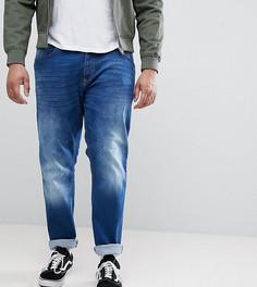 Темно-синие суженные книзу эластичные джинсы Duke Plus - Синий