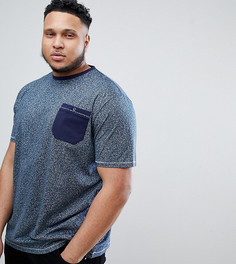 Футболка с принтом и карманом Duke Plus - Темно-синий