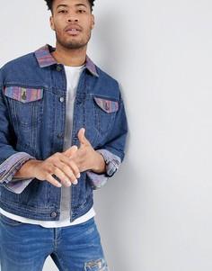 Свободная джинсовая куртка ASOS DESIGN - Синий
