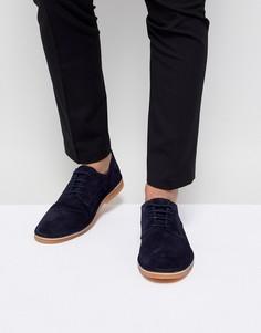 Замшевые туфли дерби Selected Homme - Темно-синий