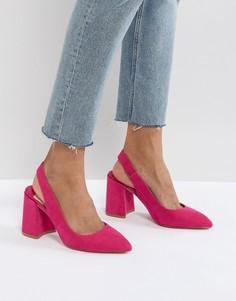 Туфли на блочном каблуке Faith - Розовый