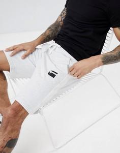 Трикотажные шорты с полосками по бокам и логотипом G-Star - Серый