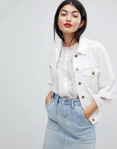 Джинсовая куртка с укороченными рукавами Pepe Jeans - Белый