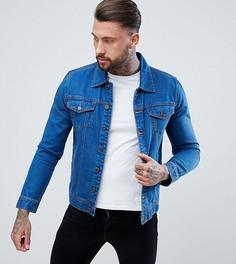Выбеленная джинсовая куртка Brooklyn Supply Co - Синий