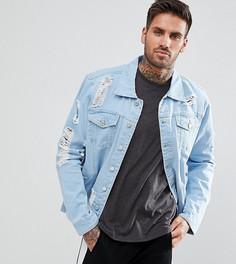 Выбеленная джинсовая куртка с рваной отделкой Brooklyn Supply Co. - Синий