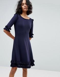 Платье с рюшами BOSS - Синий