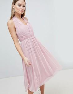 Шифоновое платье миди Lipsy - Розовый