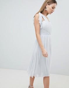 Шифоновое платье миди Lipsy - Серебряный