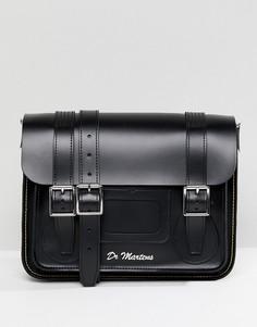 Черный кожаный портфель Dr Martens 11 - Черный