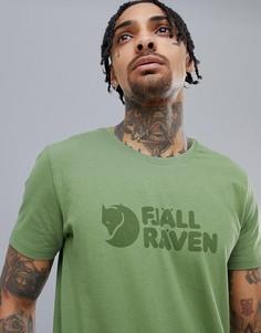 Зеленая футболка с логотипом Fjallraven - Зеленый