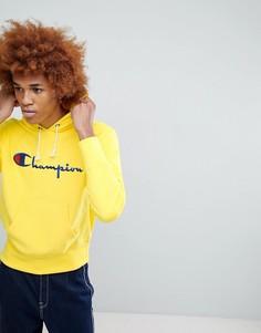 Желтый худи с большим логотипом Champion - Желтый