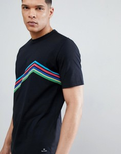 Черная футболка в шевронную полоску PS Paul Smith - Черный