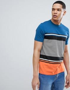 Оранжевая футболка в полоску PS Paul Smith - Оранжевый