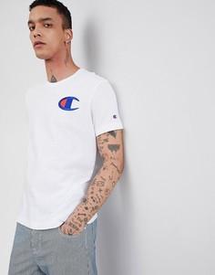 Белая футболка с принтом Champion - Белый