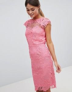 Кружевное платье с фигурными краями Paper Dolls - Розовый