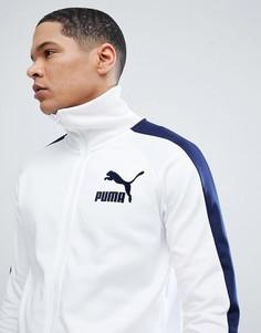Белая спортивная куртка в винтажном стиле Puma T7 57498506 - Белый