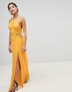 Платье макси с вышивкой The Jetset Diaries - Желтый