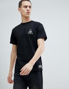 Черная футболка с принтом треугольника на спине HUF x Felix The Cat - Черный