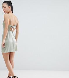 Платье мини с драпировкой ASOS DESIGN Petite - Зеленый