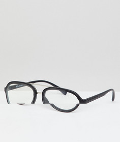 Серебристые очки-авиаторы с прозрачными стеклами AJ Morgan - Серебряный