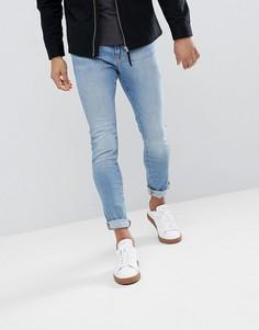 Голубые зауженные джинсы Esprit - Синий
