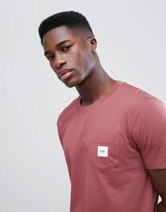 Розовая футболка с карманом Esprit - Розовый