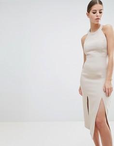 Платье миди с двумя разрезами до бедра Vesper - Коричневый