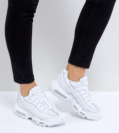 Белые кроссовки Nike Air Max 95 - Белый