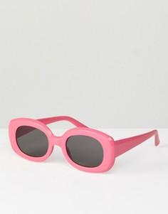 Квадратные солнцезащитные очки в стиле 90-х ASOS - Розовый