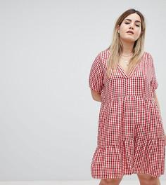 Платье в клетку Zizzi - Красный