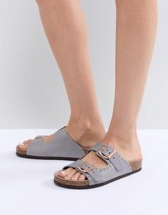 Серые сандалии с заклепками Office Superstar - Серый