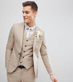 Приталенный пиджак в клетку Noak Wedding - Бежевый