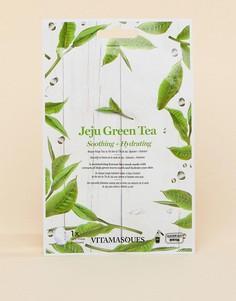 Маска для лица с экстрактом зеленого чая Vitamasque Jeju - Бесцветный