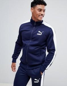 Темно-синяя спортивная куртка Puma Archive T7 57265806 - Темно-синий