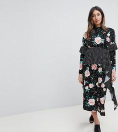 Чайное платье миди с принтом ASOS MATERNITY - Мульти