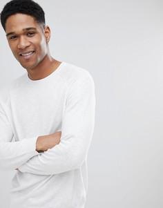 Светло-бежевый джемпер с круглым вырезом Burton Menswear - Белый