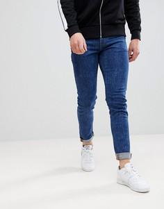 Темные джинсы скинни в стиле ретро ASOS - Синий