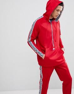 Худи красного цвета на молнии с полосками сбоку Nike AJ2296-687 - Красный