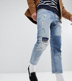 Укороченные джинсы с нашивкой Just Junkies - Синий
