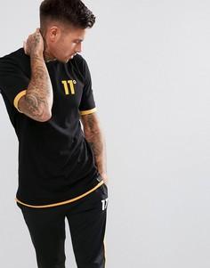 Черная обтягивающая футболка 11 Degrees - Черный