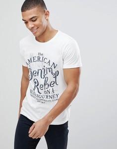 Белая футболка с принтом Solid - Белый