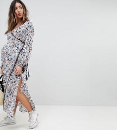 Платье миди с запахом и завязками Glamorous - Белый