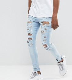 Рваные голубые джинсы обтягивающего кроя Jaded London - Синий