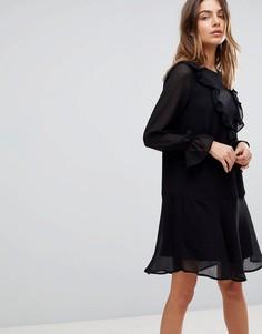 Платье с оборками Y.A.S - Черный