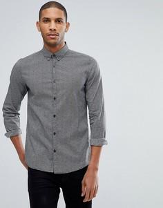 Приталенная рубашка с монохромным принтом Tom Tailor - Черный