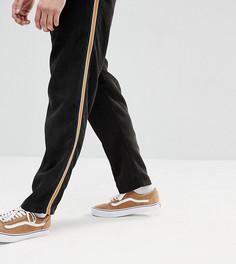 Черные укороченные вельветовые брюки с отделкой лентой Reclaimed Vintage Inspired - Черный